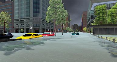 「世界一の雨降り体験VR 」画面キャプチャ