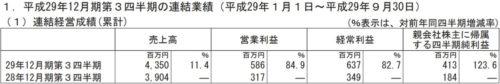 カヤック平成29年12月期第3四半期決算