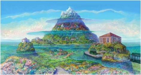 「多層海を訪ねた日」版画