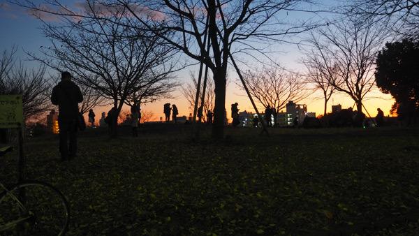 西郷山公園日暮れ