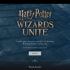 Harry Potter WIZARDS UNITE公式サイト