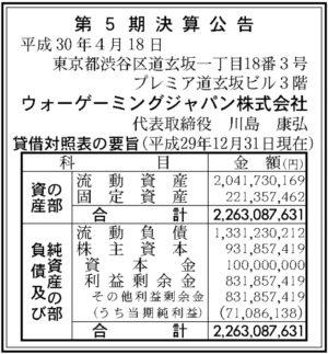 ウォーゲーミングジャパン第5期決算