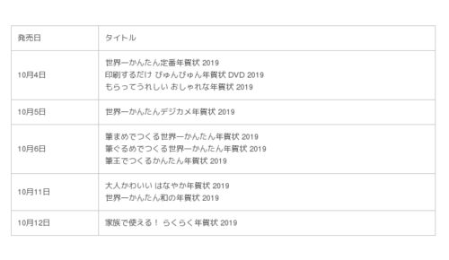 KADOKAWA年賀状素材集2019年版