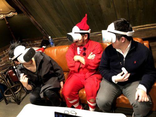 VRヘッドセット着用イメージ