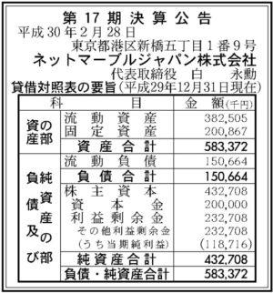 ネットマーブルジャパン17期決算
