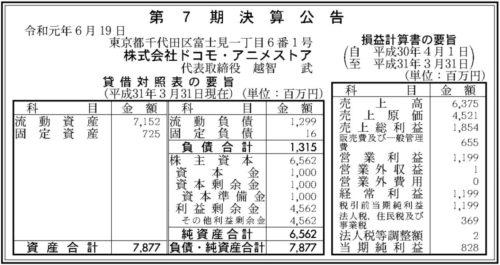 ドコモ・アニメストア第7期決算