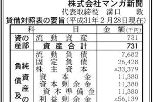 マンガ新聞第4期決算