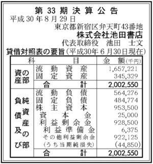 池田書店第33期決算