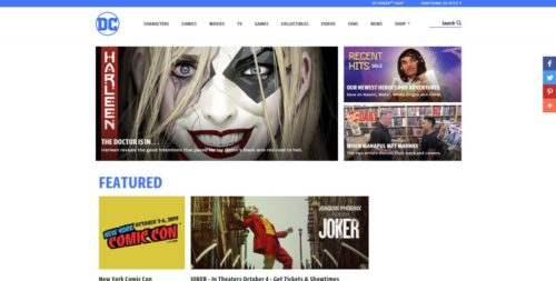 DC Comics公式サイト