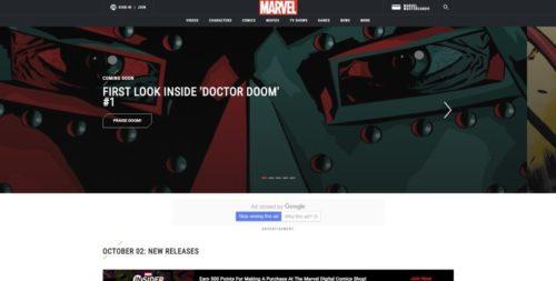 Marvel Comics公式サイト
