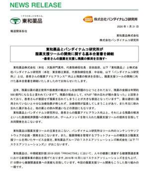 バンダイナムコ研究所 東和薬品 契約