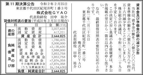 GYAO 資本金