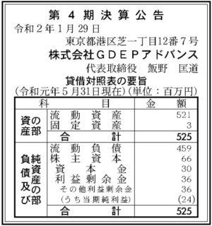 GDEPアドバンス 第4期決算