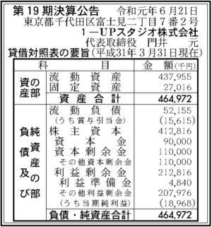1-UPスタジオ第19期決算