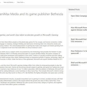 ZeniMax Media マイクロソフト