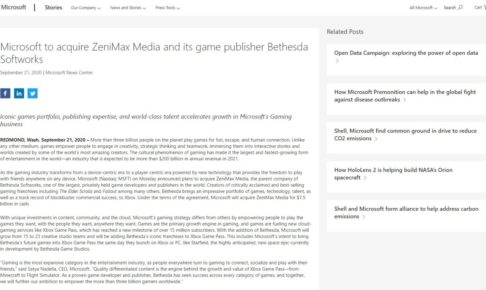 ZeniMax Media マイクロソフト