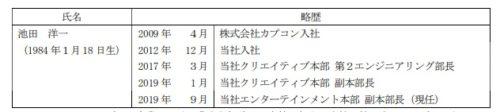 コロプラ 取締役 池田