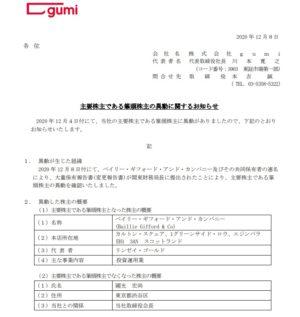 gumi 株主