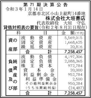 大垣書店第71期決算