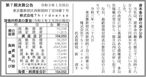Thirdverse 資本金