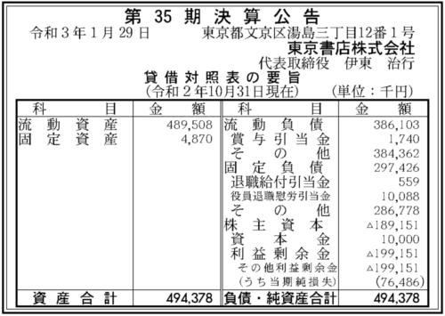 東京書店 第35期決算