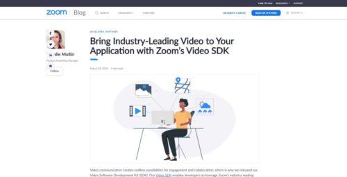 zoom ビデオ