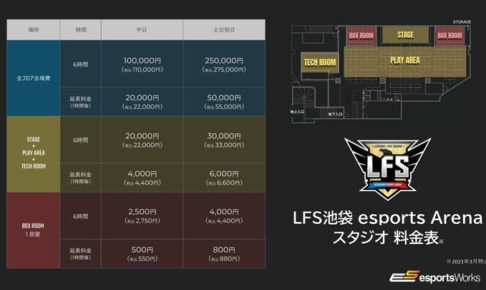 LFS STUDIO 料金表