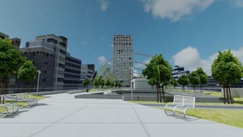 渋谷区立宮下公園エリア 開発中のイメージ