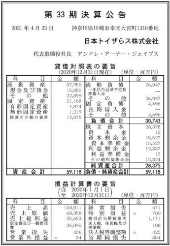 日本トイザらス第33期決算