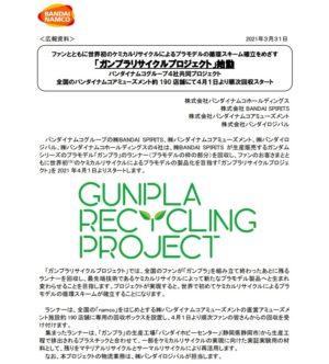 ガンプラリサイクルプロジェクト
